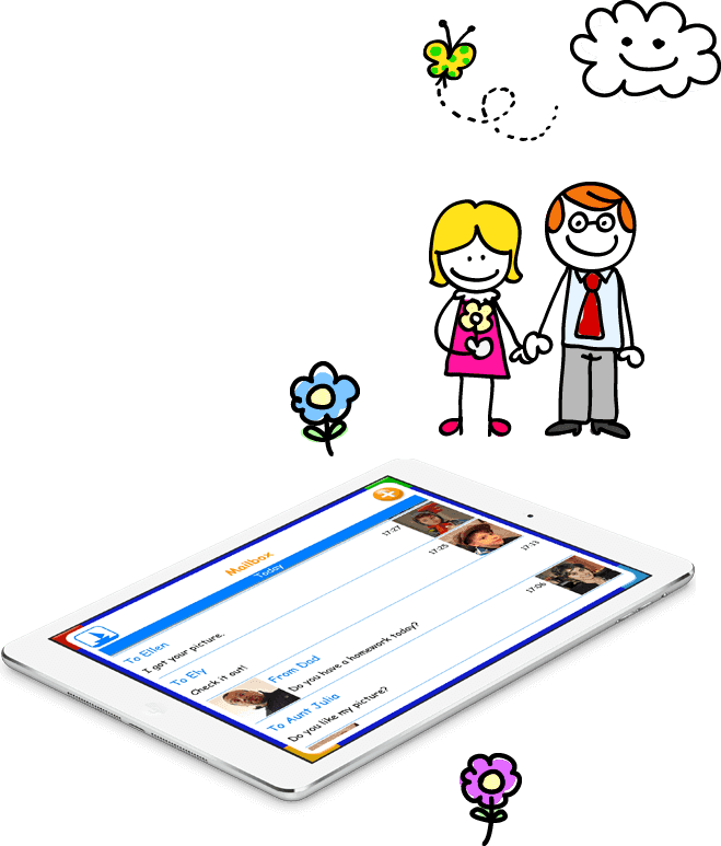 Email iPhone app for kids